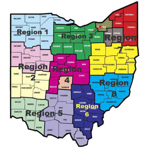 Ohio Legion Baseball Regions